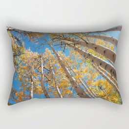 Aspen Trees Against The Sky In Crested Butte, Colorado for #Society6 Rectangular Pillow