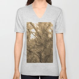 Treeage I - Sepia Unisex V-Neck