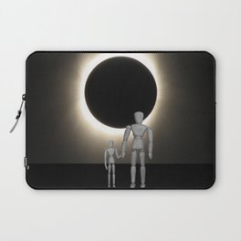 Wooden Anatomy Father Doll and Child before Total Solar Eclipse Laptop Sleeve