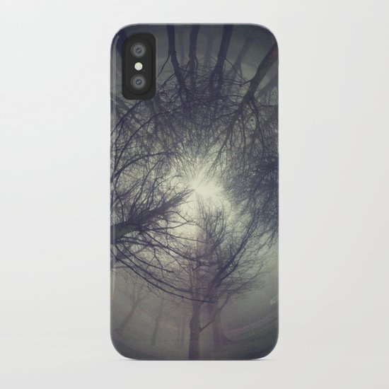 Circle of misty trees iPhone Case