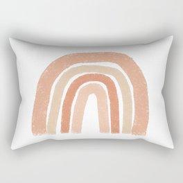 Rainbow, Blush, Orange Abstract Rectangular Pillow