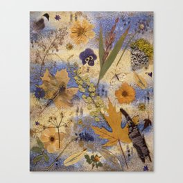 Woods and Dragonfly Canvas Print