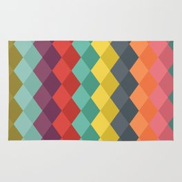Rombs retro color Rug