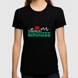 Heartbeat Powered By Kindness Spread Love Stop Bully T-shirt