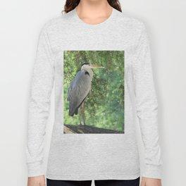 Grey heron (Ardea Cinerea) amongst trees Long Sleeve T-shirt