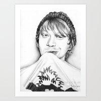 Rupert Grint Art Print
