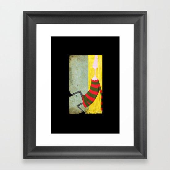 Unadjusted Again Framed Art Print