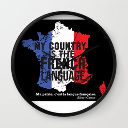 My Country Is The French Language Wall Clock