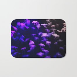 Jellyfish - purple and pink Bath Mat