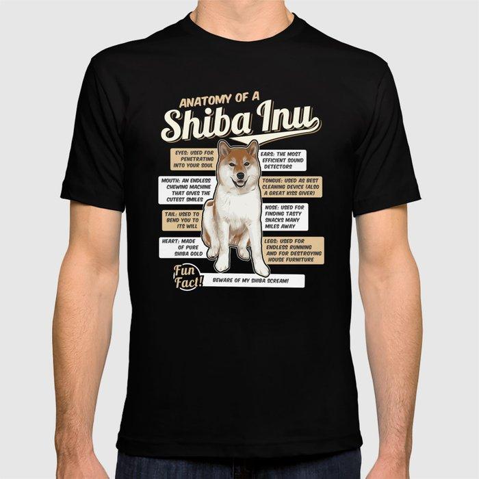 58459f7f9c Anatomy of a Shiba Inu T-shirt by teeign | Society6