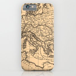 Iconographic Encyclopedia of Science, Literature and Art (1851) - Europe during the Crusades iPhone Case