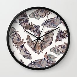 Bat Collection Wall Clock