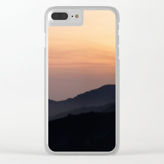 Hillside Sunset Clear iPhone Case