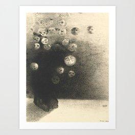 "Odilon Redon ""N'y a-t-il pas un monde invisible"" Art Print"