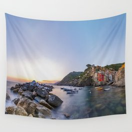 Riomaggiore of Cinque Terre, Cinque Terre, Italy Wall Tapestry
