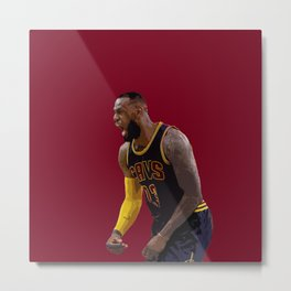 LeBron in Action Metal Print