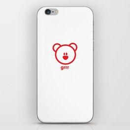 Bear : grrr iPhone Skin