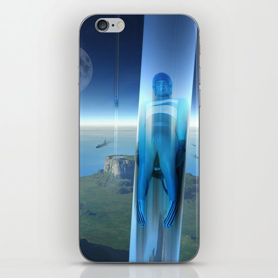 space elevator - babylon transfer station 02 iPhone & iPod Skin