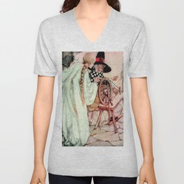 """Briar Rose"" Fairy Tale Art by Anne Anderson Unisex V-Neck"