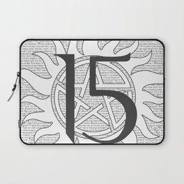 SPN Print (White) Laptop Sleeve