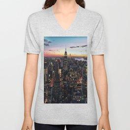 NY CITY Unisex V-Neck