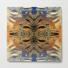 Taino Abstractions - Cemi Lama  Metal Print