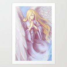 Lavender Angel Art Print