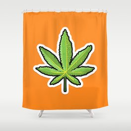 Weed leaf Shower Curtain