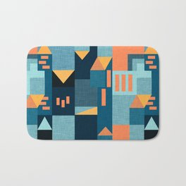 Yellow Klee houses Bath Mat