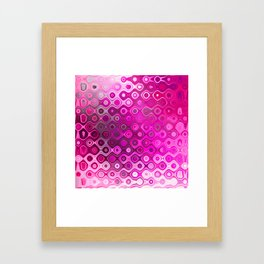 Wobbly Dots in shocking pink Framed Art Print