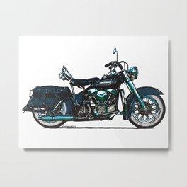 Harley Panhead Classic Motorcycle Metal Print