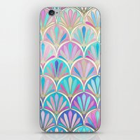 deco iPhone & iPod Skins featuring Glamorous Twenties Art Deco Pastel Pattern by micklyn