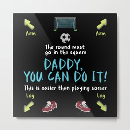 Football Dad With Child Metal Print
