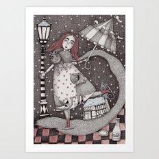 Alice's First Snow Art Print