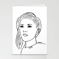 ellie goulding Stationery Cards featuring Ellie  by Rosalia Mendoza