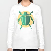 beetle Long Sleeve T-shirts featuring beetle by Cardinal Design
