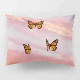 Butterfly Sunset Aesthetic Pillow Sham