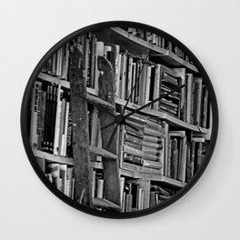 Book Shelves Wall Clock
