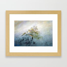 Caspar David Friedrich Morning Mist in the Mountains Framed Art Print
