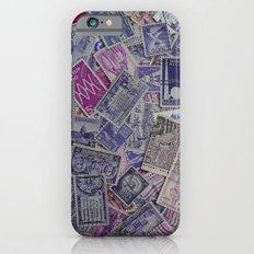 Vintage Postage Stamp Collection - Purple Slim Case iPhone 6s