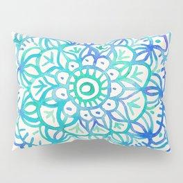 Watercolor Medallion in Ocean Colors Pillow Sham