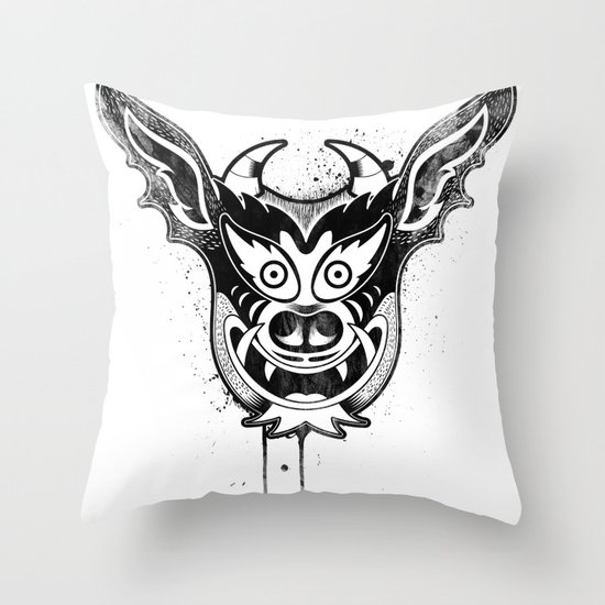 Yare Devil mask #1 Throw Pillow