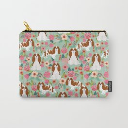 Blenheim Cavalier King Charles Spaniel dog breed florals pattern Carry-All Pouch