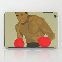ali iPad Cases featuring Cool image of a boxer by drawgood