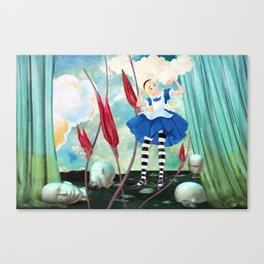 Alice In Trouble Canvas Print