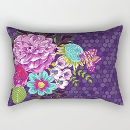 Bloomin' Beauties Violet Rectangular Pillow