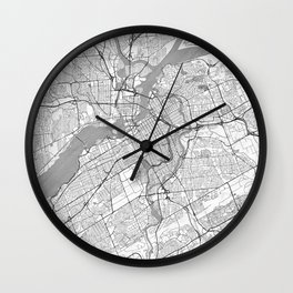 Ottawa Map Line Wall Clock