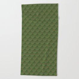 green shells Beach Towel