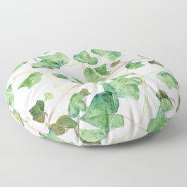 English Ivy Pattern Floor Pillow