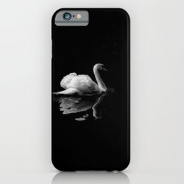 MUTE SWAN IN LOW LIGHT PHOTOGRAPHY iPhone Case